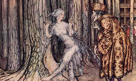Grimm's Fairy Tale illustartion for Fitcher's Bird